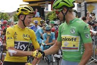 Chris Froome a Peter Sagan